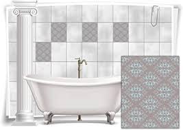 medianlux fliesenaufkleber fliesen aufkleber vintage nostalgie retro shabby chic alt küche bad wc deko 8 stück 20x25cm m14m40h 74857