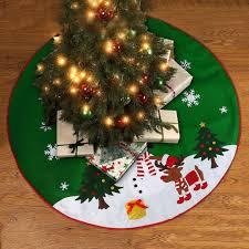 Krinner Christmas Tree Stand Uk by 90cm Green Snowman Christmas Tree Skirt Base Floor Mat Cover Xmas