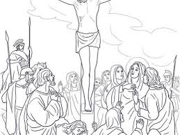 Jesus Died On The Cross Coloring Page Pages