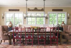 Painted Dining Chairs Room Traditional With Area Rug Bold Patterns