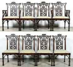 8 Smith Dining Chairs Chinese Chippendale Chair ... Bamboo Chippendale Chairs Small Set Of Eight Tall Back Black Faux Chinese Chinese Chippendale Florida Regency 57 Ding Table Vintage Six A Quick Living Room And Refresh Stripes Whimsy Side By Janneys Collection Chair Toronto For Sale Four