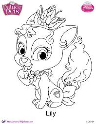Free Princess Palace Pets Lily Coloring Page PetsColoring Book PagesDisney