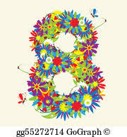Vector Art Letter m floral design see also letters in my gallery