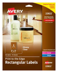 Avery Easy Peel Print To The Edge Glossy Clear 80 Labels 22822