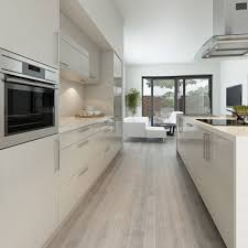 White Gloss Kitchen Design Ideas by Maida Gloss Light Grey Is One Of Our Definitive Modern Kitchens