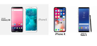 parison of Apple iPhone 8 iPhone X vs Samsung galaxy S8 & Note 8