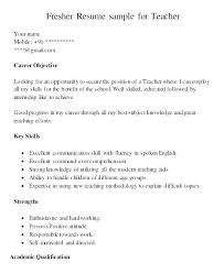 Resume Format Of Teacher High School Examples Free Samples For Teachers Resumes Sample Word
