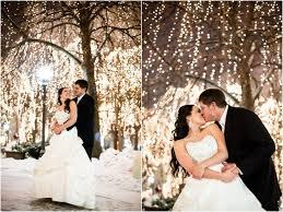 Christmas Lights Winter Wedding