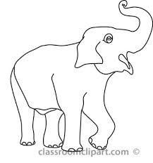 Elephant Clipart Outline Trunk Up ClipartXtras