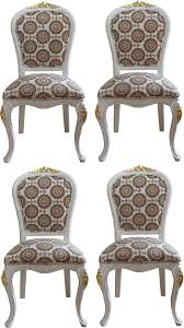 pompöös by casa padrino luxus barock esszimmerstühle mit krone weiß gold pompööse barock stühle designed by harald glööckler 4 esszimmerstühle