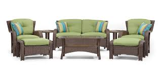 Sawyer 8pc Resin Wicker Patio Furniture Conversation Set – La-Z-Boy ... Outdoor Wicker Chairs Table Cosco Malmo 4piece Brown Resin Patio Cversation Set With Blue Cushions Panama Pecan Alinum And 4 Pc Cushion Lounge Ding 59 X 33 In Slat Top Suncrown Fniture Glass 3piece Allweather Thick Durable Washable Covers Porch 3pc Chair End Details About Easy Care Two Natural Sorrento 5 Cast Woven Swivel Bar 48 Round Jeco Inc W00501rg Beachcroft 7 Piece By Signature Design Ashley At Becker World Love Seat And Coffee Belham Living Montauk Rocking