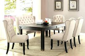 Black Dining Room Furniture Chairs Table Excellent Set Bench C