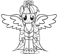 Twilight My Little Pony Coloring Pages Sparkle Alicorn