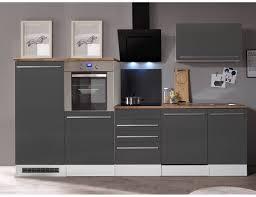 respekta premium küchenzeile berp290hwgc 290 cm grau