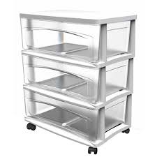 Sterilite 4 Drawer Cabinet by Shop Style Selections 21 75 In X 24 625 In 3 Drawer White Clear