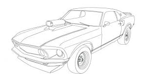 Ford Mustang Coloring Pages Free Gt500 1965 Muscle Car
