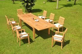 9 Pc Grade-A Teak Wood Dining Set - 122