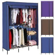 Portable Closet Storage Organizer Wardrobe Clothes Rack W Shelves 68