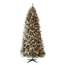 9 Foot Geneva Pre Lit Flocked Decorated Christmas Tree
