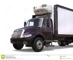 Dark Purple Refrigerator Truck - Closeup Cut Shot Stock Illustration ...