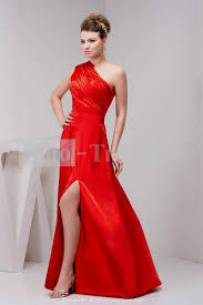 one shoulder red homecoming dress naf dresses