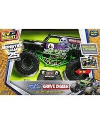 New Bright 61030G 9.6V Monster Jam Grave Digger RC Car, 1:10 Scale ... Ax90055 110 Smt10 Grave Digger Monster Jam Truck 4wd Rtr Gizmo Toy New Bright 143 Remote Control 115 Full Function 24 Volt Battery Powered Ride On Walmart Haktoys Hak101 Invincible Turbo Twister Rechargeable Rc Hot Wheels Shop Cars Amazoncom Giant Mattel Axial Electric Traxxas Sonuva Truck Stop Rc Trucks Show Scale Playtime Dragon Cheap Car Find Deals On Line At Sf Hauler Set Carrier With Two Mini