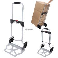 100 Collapsible Hand Truck Cart Folding Dolly Push Trolley Luggage
