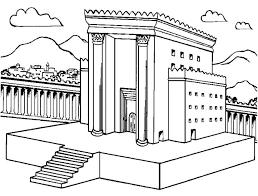 Cozy Design Temple Coloring Page Solomons