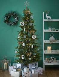 Slimline Christmas Tree by 7ft Lit Slim Christmas Tree M U0026s