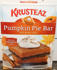 Pumpkin Cake Mix Bars by Making Krusteaz Pumpkin Pie Bars U0026 Review Youtube