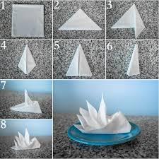 Paper Napkin Folding Instructions Festive Table Decoration