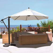 Sunbrella Patio Umbrellas Walmart by Furniture Charming Red Cantilever Patio Umbrella With Black Stand