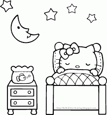 Hello Kitty Color Pages Coloring Free Online