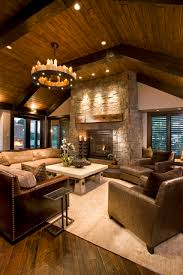 Rustic Living Room Ideas With Ceiling Lighting And