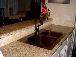 Drop In Bathroom Sink With Granite Countertop by Copper Kitchen Sinks Black Copper Kitchen Sink Small Single