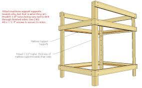 diy bunk bed plans queen wooden pdf pergola designs india