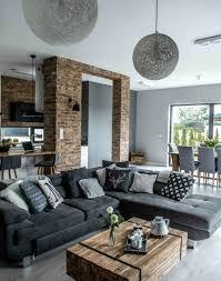 salon avec canapé gris déco salon formidable studio avec un salon gris et blanc canapé
