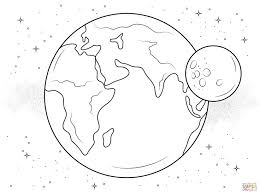 Click The Earth And Moon Coloring Pages To View Printable Version Or Color It Online Compatible With Ipad Android Tablets