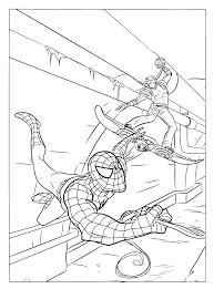 Coloriage Spiderman En Plein Action Dessin