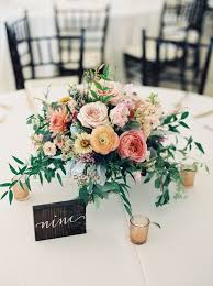 Rustic Ranunculus And Rose Wedding Table Centerpieces Stylemepretty