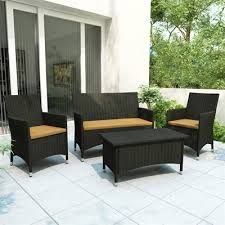 Lowes Canada Outdoor Dining Sets by Corliving Z 104 Dcp Cascade 4 Piece Patio Set Lowe U0027s Canada