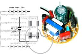 converting a dead cfl into an led tubelight circuit idea