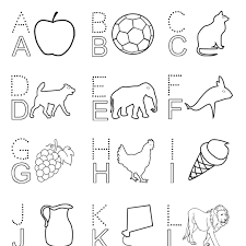 English Alphabet Letters Capital Coloring Book