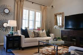 Stylish Rustic Glam Living Room Traditional Dallas