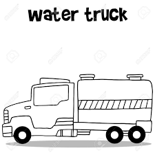 100 Water Truck Collection Of Transportation Vector Illustration Royalty