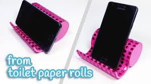DIY Crafts PHONE HOLDER From Toilet Paper Rolls
