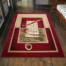 details zu teppich modern designer wohnzimmer in rot läufer s 200x300 300x400 80x150