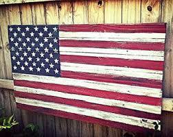 American Flag Wood Rustic Wooden