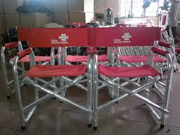 Lightweight Aluminum Directors Chair by Custom Director U0027s Chairs Personalized Aluminum Folding Chairs