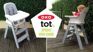 oxo tot sprout high chair video demonstration baby mode cleaning